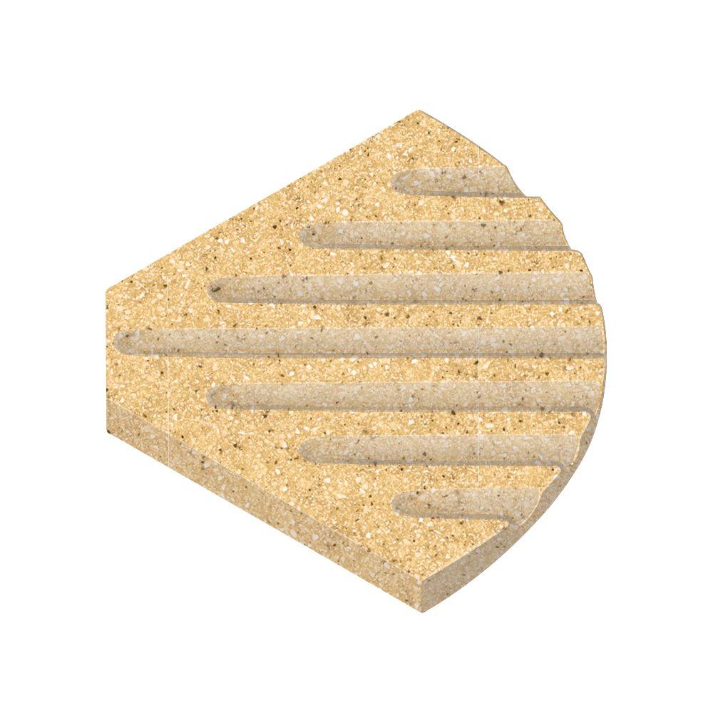 Transolid SOAPDISH03-B2 Decor 5-1/2-Inch Corner Soap Dish, Matrix Sand by Transolid