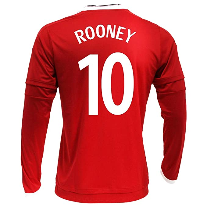 finest selection 68f22 07656 Amazon.com: Rooney #10 Manchester United Home Soccer Jersey ...