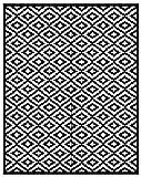 Lightweight Outdoor Reversible Plastic Nirvana Rug (8ft x10 ft, Black / White)