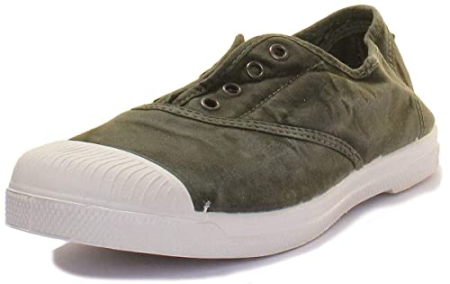 Zapatillas NATURAL WORLD INGLES ELAS ENZ 40 Kaki Mujer: Amazon.es: Zapatos y complementos