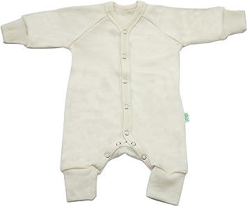 Verde Rosa 100% lana de merino baby – Body para bebés sin pies ...