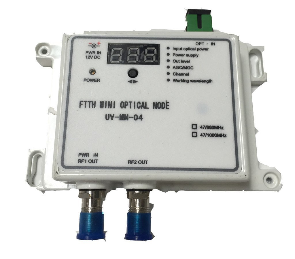 CATV Mini Optical Fiber Node - Forward Only FTTH 1310nm - Commercial QUALITY by PacSatSales