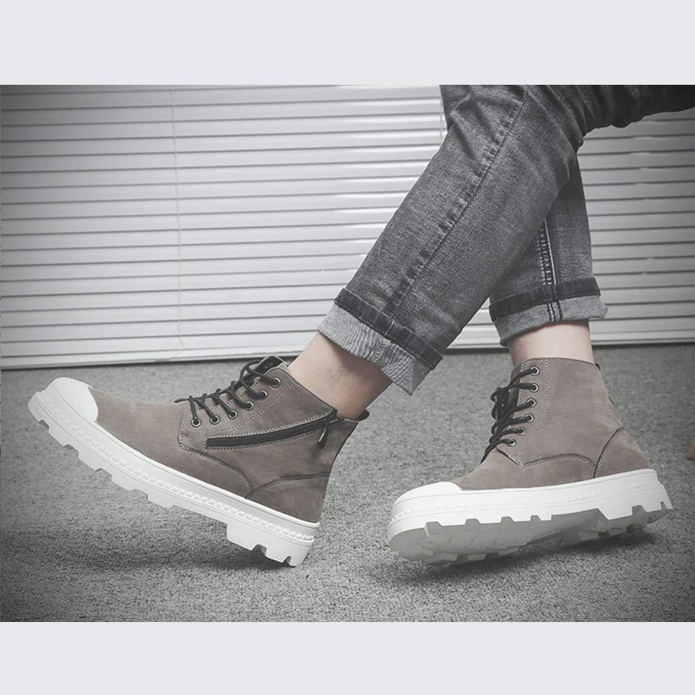 LH Herren-Stiefel Martin, Dicke untere britische Retro-Stiefel hoch, um lässige Mode Outdoor-Schuhe für Frühling, Herbst, Sommer und Winter geeignet zu helfen,38