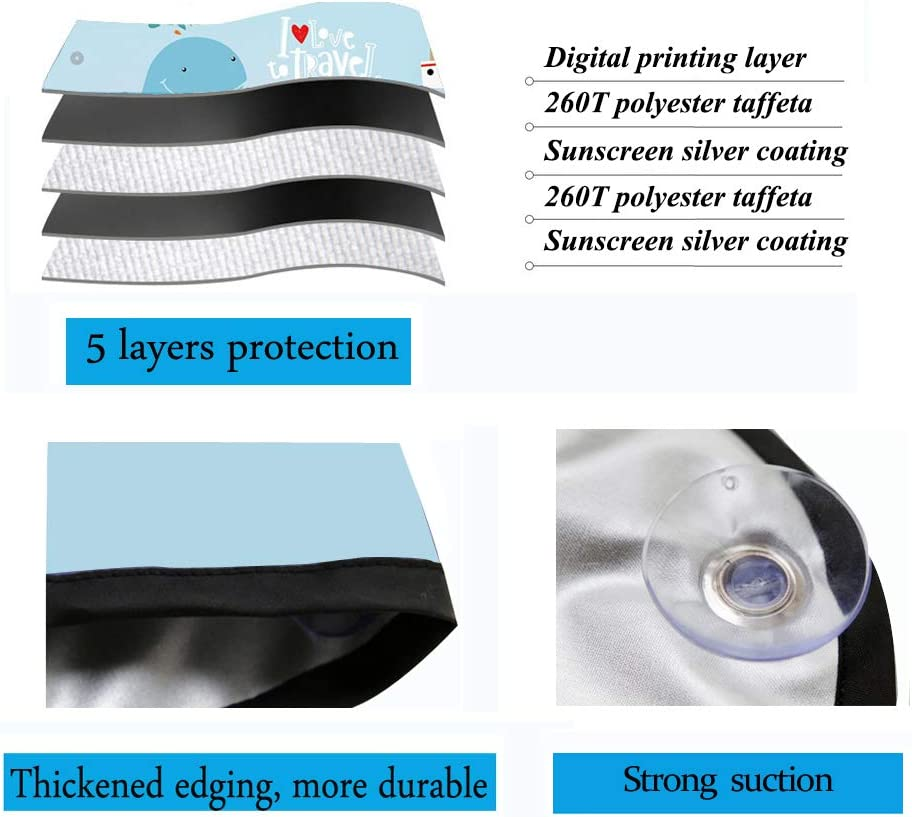 ZATOOTO Parasole per Lunotto Posteriore Misura Universale per Prevenire i Raggi UV Offre Privacy con Ventose Staccabili Tendina Parasole Auto per Lunotto Posteriore