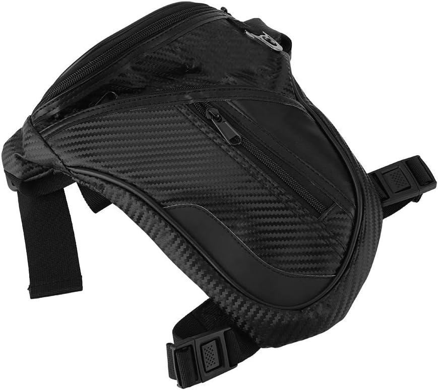 Duokon Bolso impermeable de la pierna, bolso durable de la cintura del montar a caballo de la motocicleta del bolso de moda de la pierna de los hombres