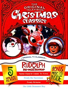 The Original Television Christmas Classics 5 Holiday Classics - Rudolph The Red-nosed Reindeer Santa Claus Is Commin To Town Frosty The Snowman The Little Drummer Boy3 Dvds Music Cd And Christmas Toy