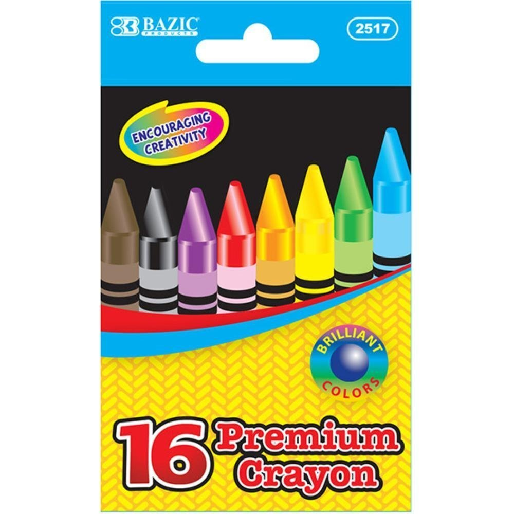 16 Color Premium Quality Crayon Set Quantity: Case of 144