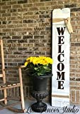 Large Vertical Wood Welcome Sign For Sale