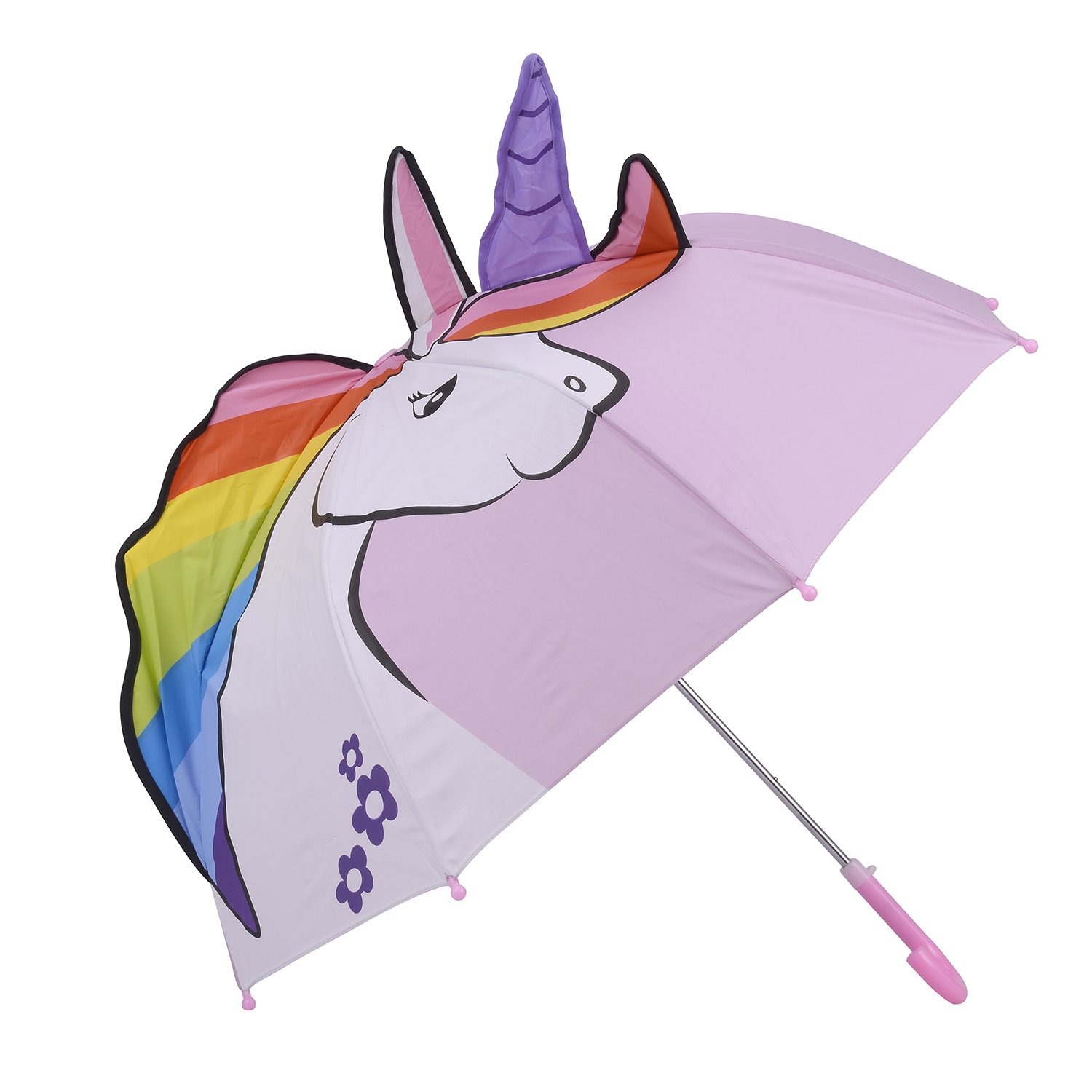 Kidorable Unicorn Pop up Umbrella for Kid with Safety Open and Close by Micaddy | Age 3-