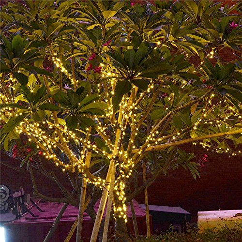 Addlon Solar LED String Lights Christmas Lights,115ft(35m) 300 LED 8work  Modes, Ambiance Lighting For Outdoor, Patio ...