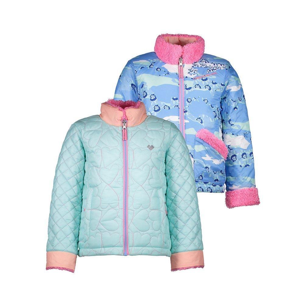 Obermeyer Kids Baby Girls Jitterbug Reversible Jacket Toddler//Little Kids//Big Kids Seaglass 8