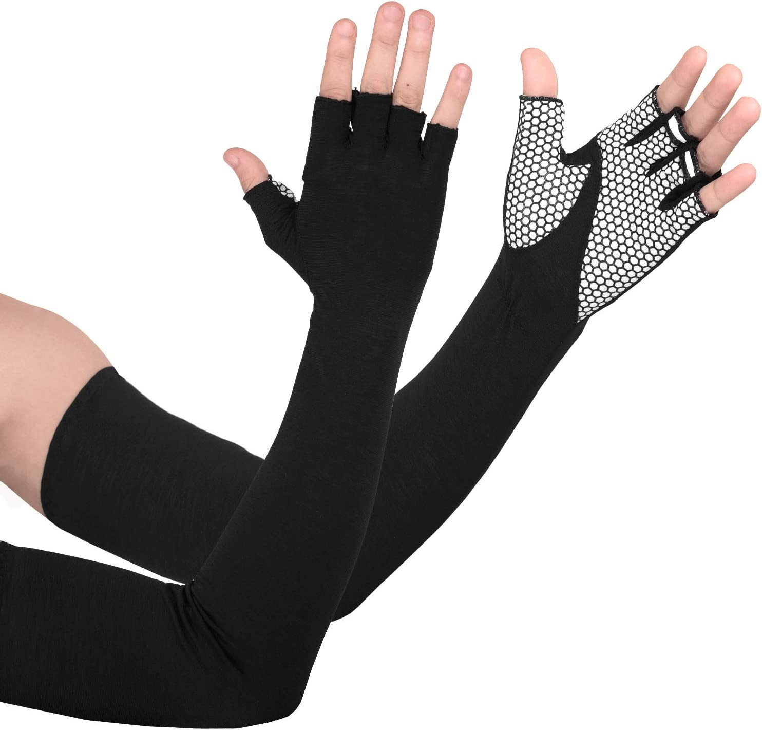 EXski UV Protection Arm Sleeves Cooling Sun Protection Gloves for Cycling Driving Running Golfing Outdoor