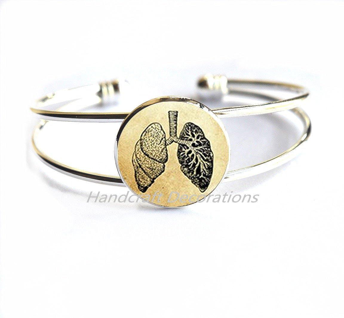 Human Lungs Bracelet Science Bracelet Biology Bracelet Anatomical Bracelet Anatomy Bracelet Lungs Jewelry Anatomy Jewelry Biology Gift.F013