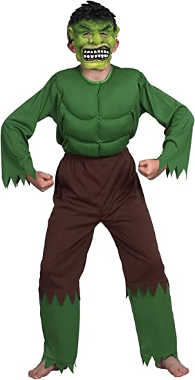 Desconocido Disfraz de monstruo verde para niño ideal para ...