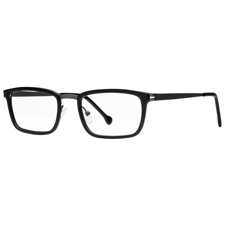 eyeOs Model 'Anton' High Definition, Anti Glare Men's Rectangular Metal Readers, Dressy, Light Weight