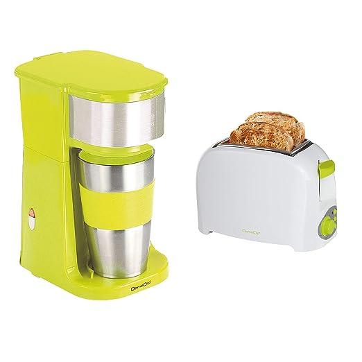 Cafetera individual verde + Tostadora electectrique: Amazon.es: Hogar