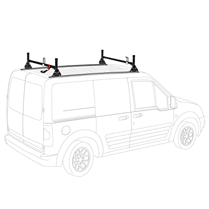98f6171518 Image Unavailable. Image not available for. Color  Vantech Transit Connect  2010-13 H1 2 bar ladder roof rack High ...