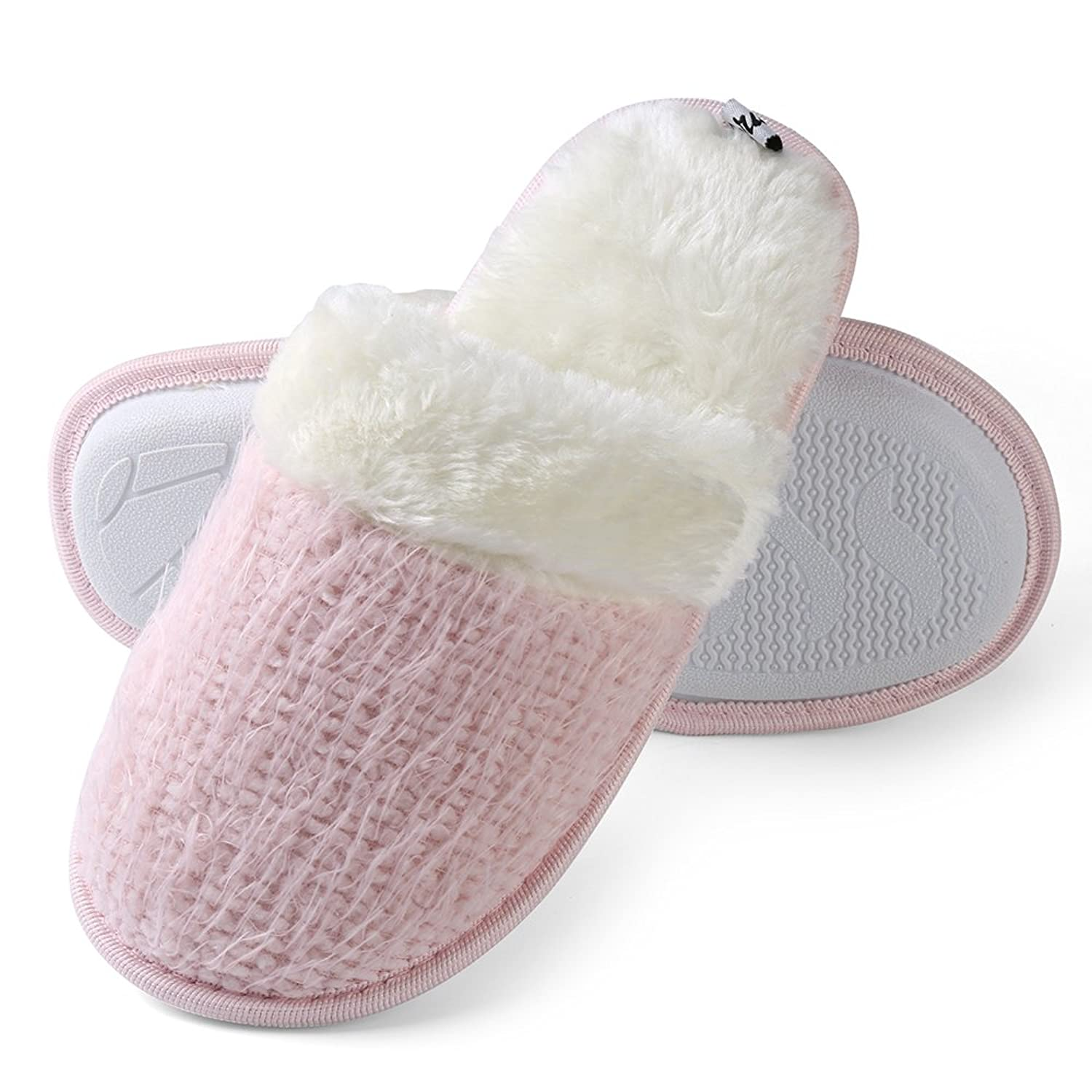 Aerusi Winter Warm Plush Slippers Indoor Shoes Home Couple Slipper