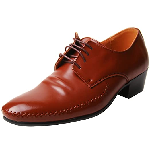 Fix Stitch Derby Real Leather Oxford Heel Shoes BM019/Cowhide_2
