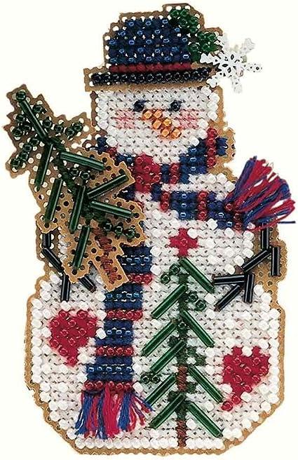 Christmas Nest Cross Stitch Ornament Kit Mill Hill 2003 Winter Holiday