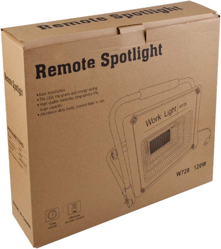 USB Rechargeable Noctur Etanche IP67 Ultra Puissant Lamp de Travail Portatif pour Camping T/él/écommande 120W Projecteur de Chantier LED Jusqu/à 8 heures Eclairage Projecteur LED Chantier P/êche