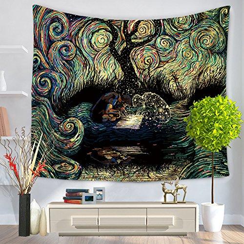 Great Features Of ChezMax Mandala Hippie Bohemia Square Polyester Tapestry Multi Purpose Decorative ...