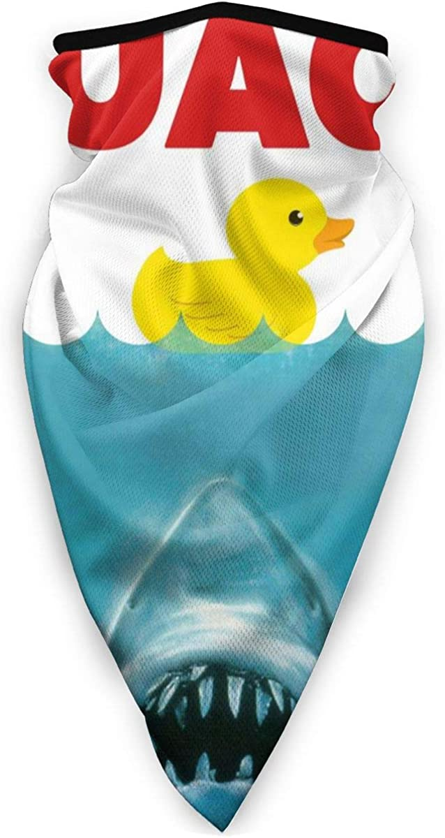 Nicokee Neck Gaiter Face Bandana,Rubber Duck Be Care For The Shark Face Scarf Balaclava Headwear For Motorcycle Hiking Running Sport, Outdoor Wind Uv Dust Protective Scarf
