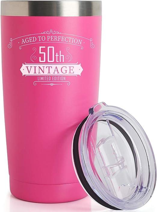 Amazon.com: Vaso de 50 cumpleaños para mujeres y hombres ...