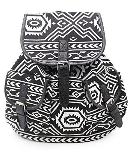 [해외]PickUrStyle 캐쥬얼 배낭 캔버스 배낭 여행 배낭 여성용 여성 패션 스타일 블랙/PickUrStyle Casual Backpack Canvas Backpack Travel Backpack Fashion Style for Girls Women Black
