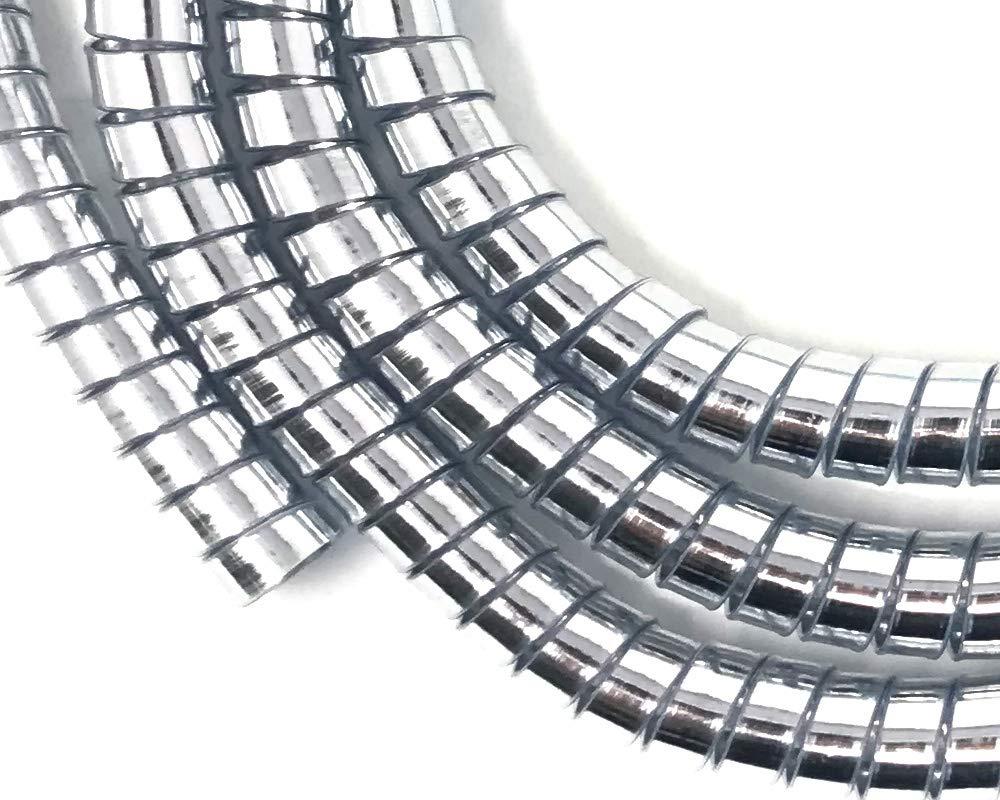 Moto Trike Cubrecables Cromo Personalizado Grueso Espiral Envoltura para Cables 10mm X 1.5M
