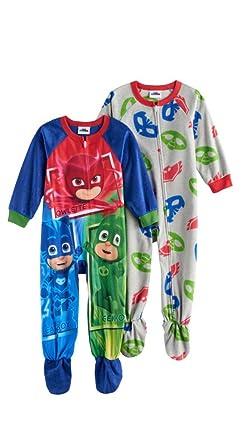 2ee4965abd Amazon.com  AME Toddler Boys PJ Masks Set of 2 Blanket Sleepers ...