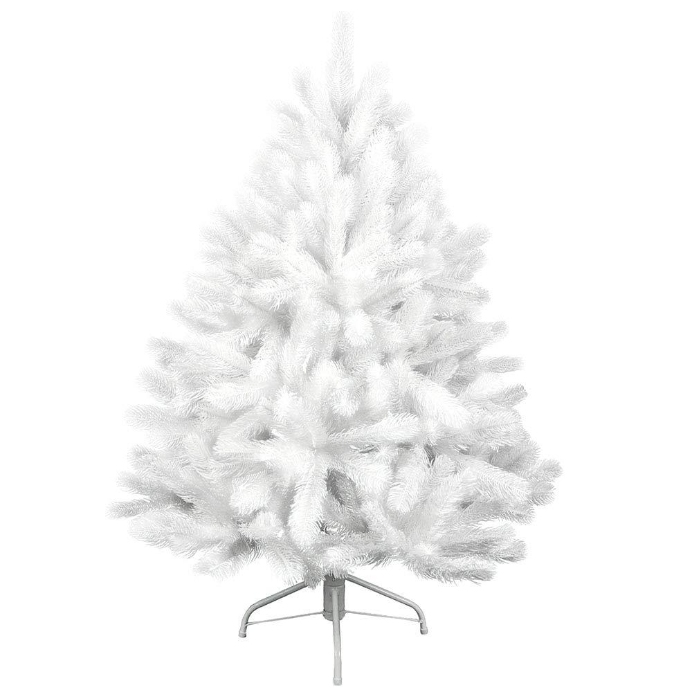 SAILUN® 240cm Weiße Kiefernnadeln künstlicher Weihnachtsbaum Christbaum Tannenbaum Weiße Kiefernnadeln mit Metallständer, Schneller Montage und Faltung (240cm)