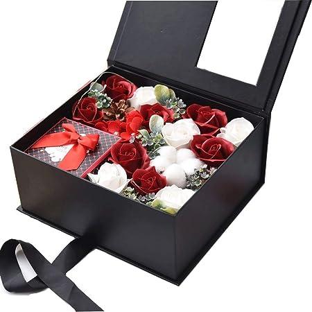 Rosas en una Caja de Regalo Flor de jabón Caja de regalo ...