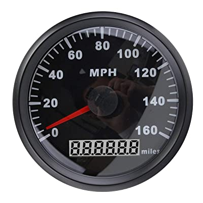 ELING Universal MPH GPS Speedometer Odometer 160MPH for Car Motorcycle Tractor Truck with Backlight 85mm 12V/24V: Automotive
