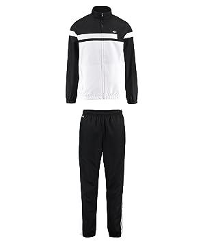 fdefa3689821 Lacoste Men's Sport Survêtement de tennis Color Block , Noir/blanc ...