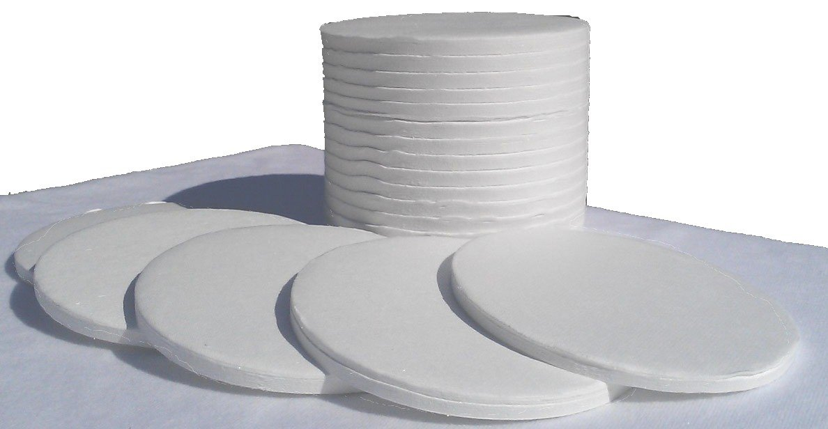 Mettler Style 90mm Binderless Glass Fiber Sample Pads for Moisture Analyzers - 1 Box of 200 Sample Pads by Nevada WeighingTM Brand