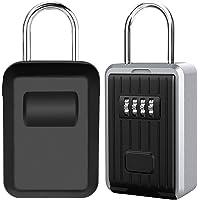 Caja de Seguridad para Llaves, Montaje en Pared Candado Caja Llaves Codigo de 4 Dígitos Combinación, Almacenamiento…