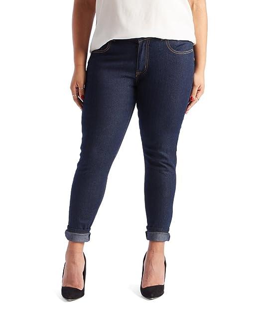 fd41e4680d1 Jower Power Women's Blue Stretch Denim Skinny Jeans-Plus Size Available,  Blue, ...