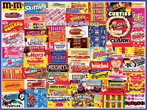 Fantastic 4 White Costume (White Mountain Puzzles Vintage Candy Wrappers - 300 Piece Jigsaw Puzzle)