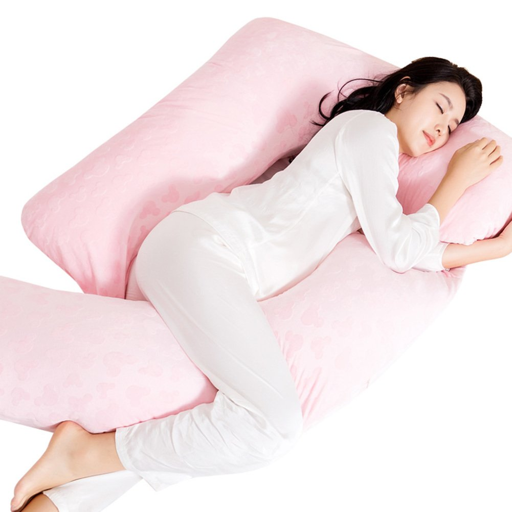 Women's pillow/pregnancy pillow/waist side sleeping pillow/belly pillow/u-pillow multifunctional sleeping pillow/lateral pillow-G 150x80cm(59x31inch)