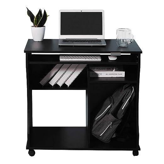 Meerveil Mesa de Ordenador, Escritorio Móvil Mesa de Oficina ...