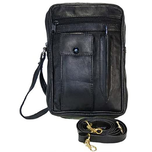 fantastic savings top-rated official best deals on Amazon.com: Mens/Womens Genuine Leather Pouch/Bag w/Strap ...