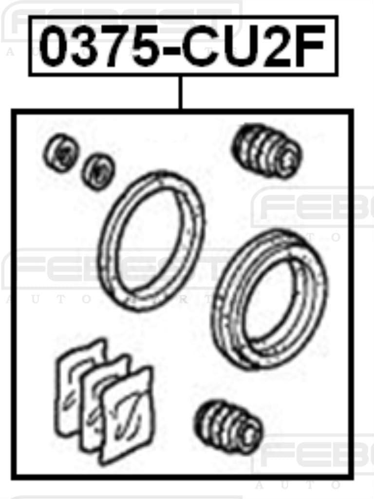 1 YEAR WARRANTY Febest # 0375-CU2F Cylinder Kit 01463-S87-A00