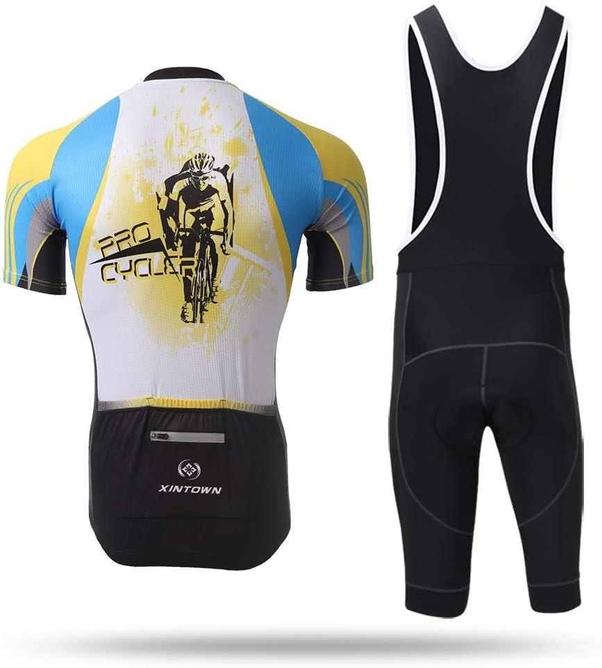 Unkoo Cycling Jersey Men Ropa Ciclismo Maillot MTB Shirts New Bike Wear Mens Rage MTB Downhill Jersey Cycling Motocross Mountain Shirt Half Sleeve Top Racing Team Biking Bib Shorts Set