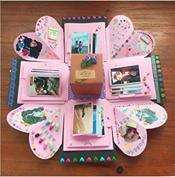 SZ&LAM Creativo explosión Sorpresa Caja de DIY Regalo de cumpleaños Personalizado de Acción de Gracias para