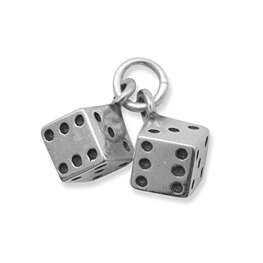 Sterling Silver Pair of Dice Charm F73ojx1