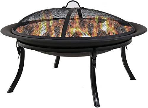 Sunnydaze Portable Outdoor Fire Pit Bowl