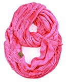 NYFASHION101 Soft Winter Warm Chunky Knit Cowl Infinity Loop Scarf, Candy Pink
