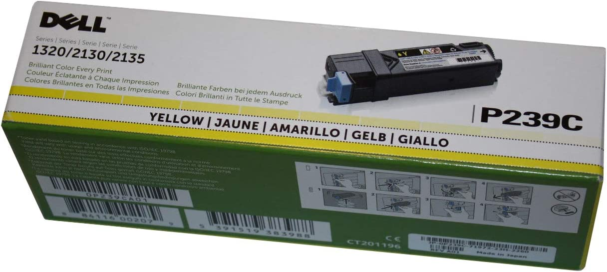 Dell 1320C Standard YellowToner (1,000 Yield) (OEM# 310-9063), Part Number RY856