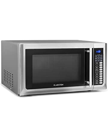 Klarstein Brilliance Pro 43 - Microwave 1500 W, Grill Function 1250 W, Convection 2150 W, 43 L Volume, 9 Programs, Touch Panel, 20 kg, Includes Accessories, Stainless Steel, Silver